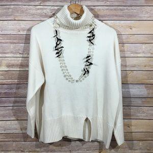 Zaful cozy cream turtleneck sweater